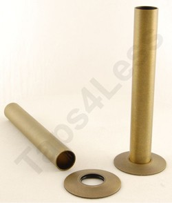 Crown Radiator Valves Sleeve Kit For Radiator Pipes (130mm, Old Brass).