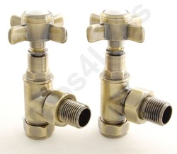 Crown Radiator Valves Westminster Angled Radiator Valves (A Brass).