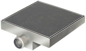 Waterworld Stainless Steel Wetroom Tile Gully With Side Outlet. 200mm.
