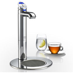 Zip G4 Classic Filtered Chilled Tap & Integrated Font (Brushed Chrome).