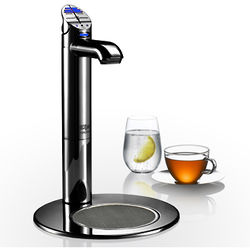 Zip G4 Classic Filtered Chilled Tap & Integrated Font (Gloss Black).