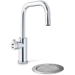Zip Cube Design Filtered Boiling Water Tap & Font (Bright Chrome).
