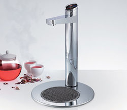 Zip Elite Filtered Boiling Tap & Integrated Font (Brushed Chrome).