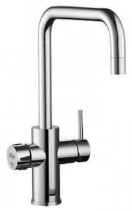 Zip Cube Design AIO Filtered Chilled & Sparkling Water Tap (Brush Chrome).