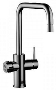 Zip Cube Design AIO Filtered Chilled & Sparkling Water Tap (Gloss Black).