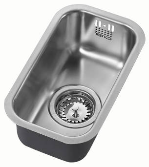 Additional image for Undermounted Kitchen Sink With Plumbing Kit (Satin, 170x320mm).