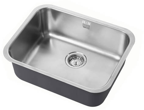 Additional image for Undermounted Kitchen Sink With Plumbing Kit (Satin, 535x406mm).