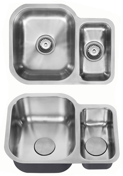 Additional image for Undermounted Two Bowl Kitchen Sink With Kit (Satin, 590x451mm).