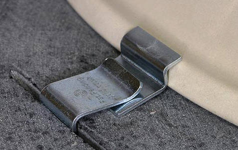 6 X Z Clips For Fixing Ceramic Undermount Sinks To Granite Worktops 1810 1810 Zclipx6