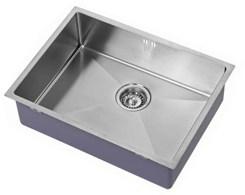 Additional image for Undermounted Kitchen Sink With Plumbing Kit (Satin, 550x400mm).
