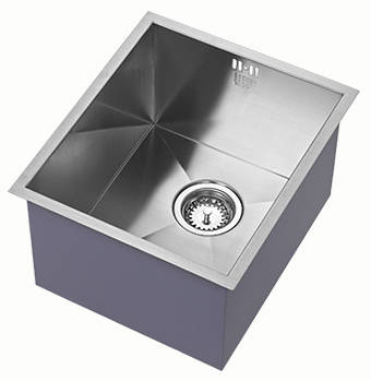 Additional image for Undermounted Deep Kitchen Sink With Kit (Satin, 340x400mm).