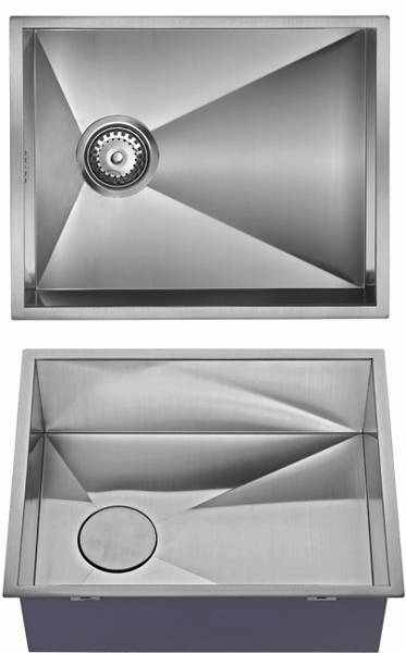 Additional image for Undermounted Kitchen Sink With Plumbing Kit (Satin, 400x500mm).