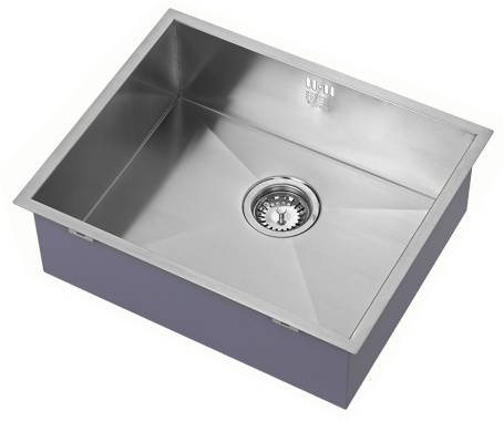 Additional image for Undermounted Kitchen Sink With Plumbing Kit (Satin, 500x400mm).