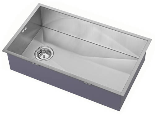 Additional image for Undermounted Kitchen Sink With Plumbing Kit (Satin, 400x700mm).