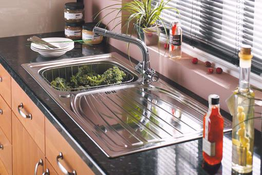 Additional image for Alto 1.0 bowl satin polished kitchen sink.