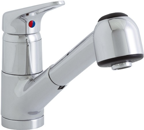 Additional image for Finesse 259 kitchen mixer tap with pull out rinser.