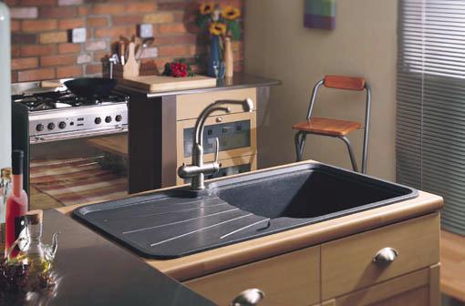 Korona 1 0 Bowl Rok Metallic Black Composite Kitchen Sink