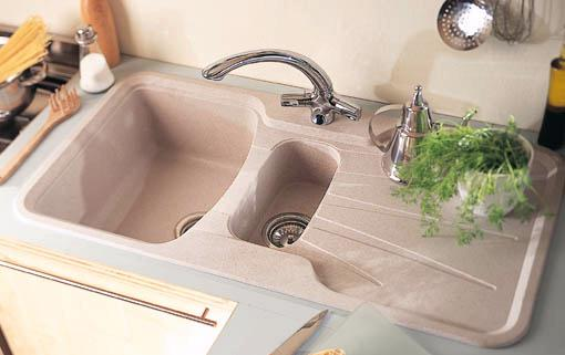 Additional image for Korona 1.5 bowl granite rok opal white composite kitchen sink.