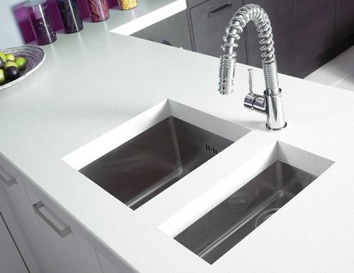 Onyx half bowl brushed steel flush inset kitchen sink - Kitchen sink saying ...
