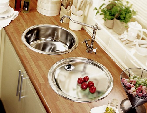 Additional Image For Onyx Inset Round Kitchen Drainer In Polished Steel Finish