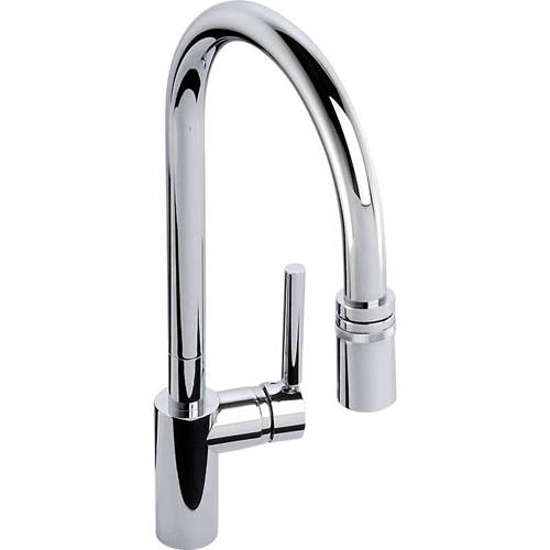 Additional image for Ratio Single Lever Pull Out Kitchen Tap (Chrome).