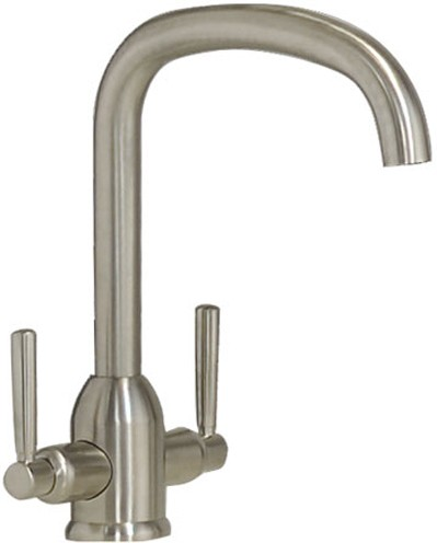 Additional image for Tate Monobloc Kitchen Tap With Swivel Spout (Brushed Nickel).