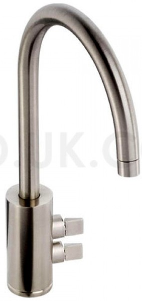 Additional image for Fliq Monobloc Kitchen Tap With Swivel Spout (Brushed Nickel).