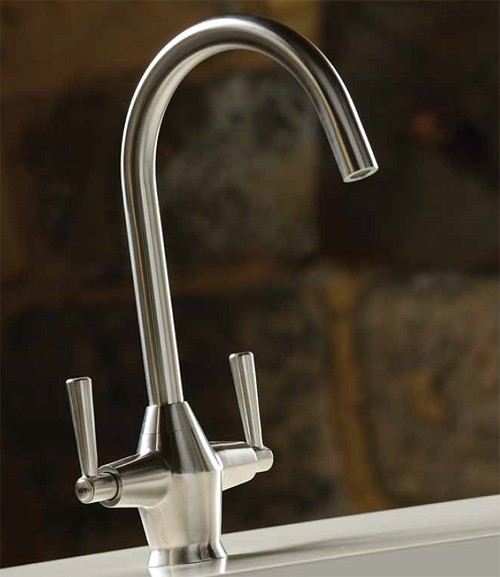 Additional image for Taura Monobloc Kitchen Tap With Swivel Spout (Stainless Steel).
