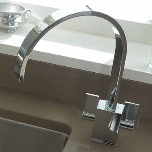 Additional image for Atik Monobloc Kitchen Tap With Swivel Spout (Chrome).
