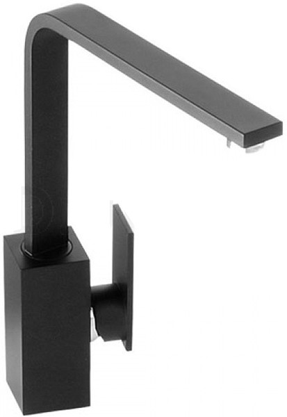 Additional image for Media Monobloc Kitchen Tap With Swivel Spout (Granite Black).