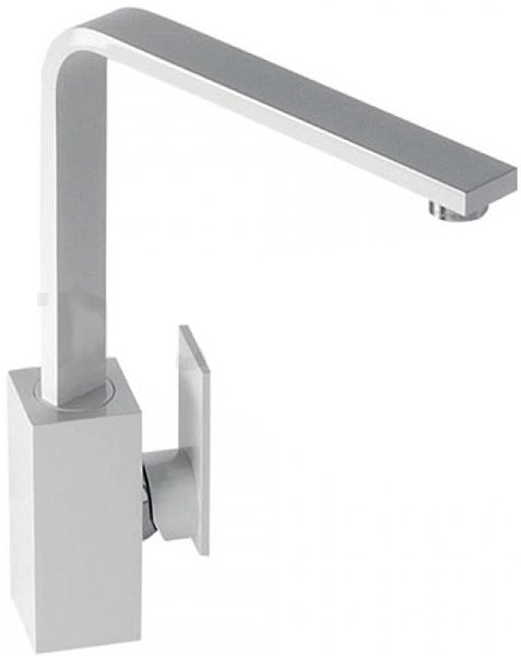 Additional image for Media Monobloc Kitchen Tap With Swivel Spout (Gloss White).
