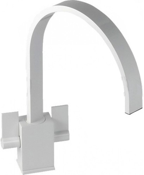 Additional image for Atik Monobloc Kitchen Tap With Swivel Spout (Gloss White).