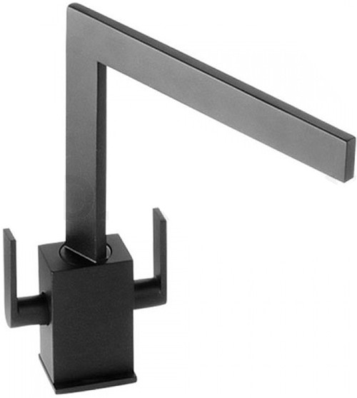Additional image for Edge Monobloc Kitchen Tap With Swivel Spout (Granite Black).
