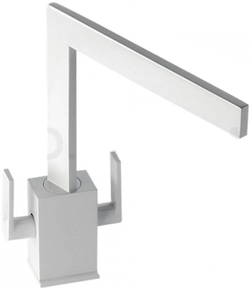 Additional image for Edge Monobloc Kitchen Tap With Swivel Spout (Gloss White).
