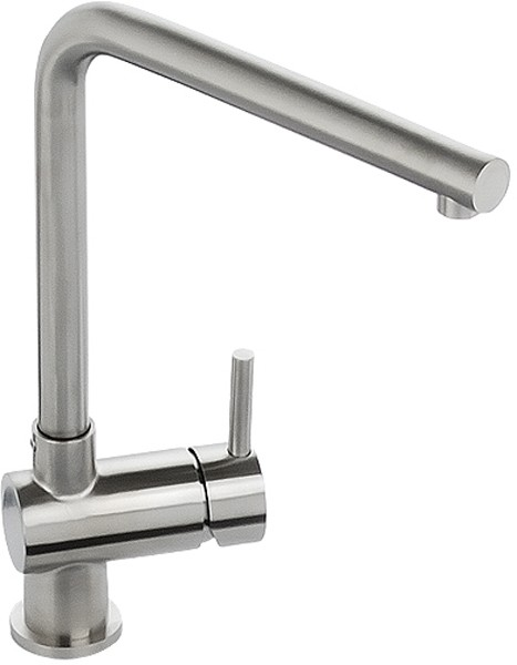 Additional image for Quala Monobloc Kitchen Tap With Swivel Spout (Stainless Steel).