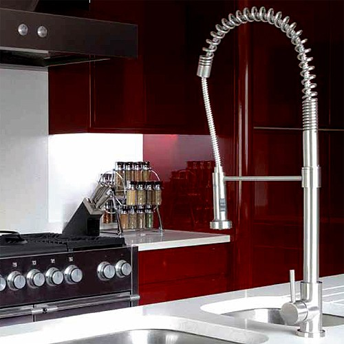 Additional image for Stalto Professional Kitchen Tap With Swivel Spout (Stainless Steel).