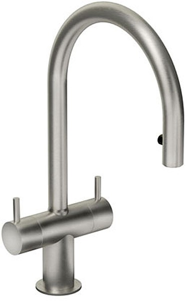 Additional image for Hesta Kitchen Tap With Spray Rinser (Brushed Nickel).