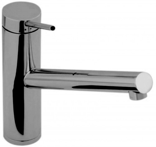 Additional image for Pluro Single Lever Kitchen Tap With Swivel Spout (Brushed Nickel).