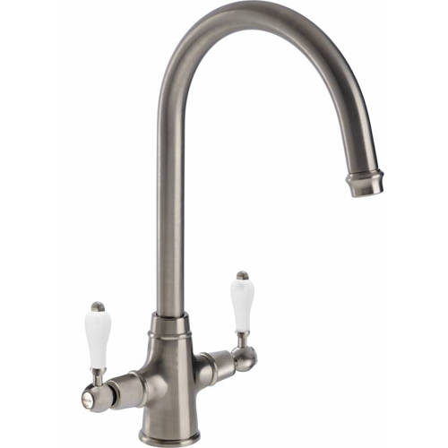Additional image for Ludlow Monobloc Kitchen Tap (Brushed Nickel).