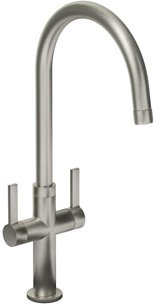 Additional image for Linear Style Kitchen Tap With Swivel Spout (Brushed Nickel).