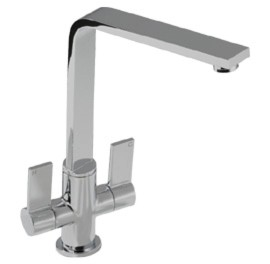 Additional image for Linear Flair Kitchen Tap With Swivel Spout (Brushed Nickel).