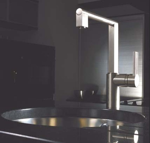 Additional image for Indus Single Lever Kitchen Tap (Brushed Nickel).
