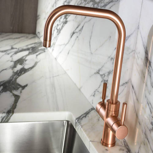 Additional image for 3 In 1 Boiling Water Filtered Kitchen Tap (Urban Copper).