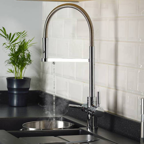 Additional image for 3 In 1 Professional Boiling Water Kitchen Tap (Chrome).