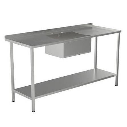 Additional image for Catering Sink With Double Drainer & Legs 1800mm (S Steel).