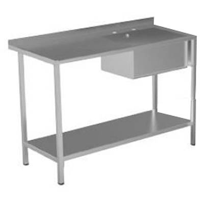 Additional image for Catering Sink With LH Drainer & Legs 1000mm (Stainless Steel).