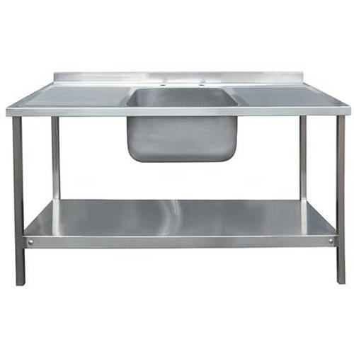 Additional image for Catering Sink With Double Drainer & Legs 1500mm (S Steel).