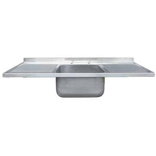 Additional image for Catering Sink With Double Drainer 1500mm (Stainless Steel).