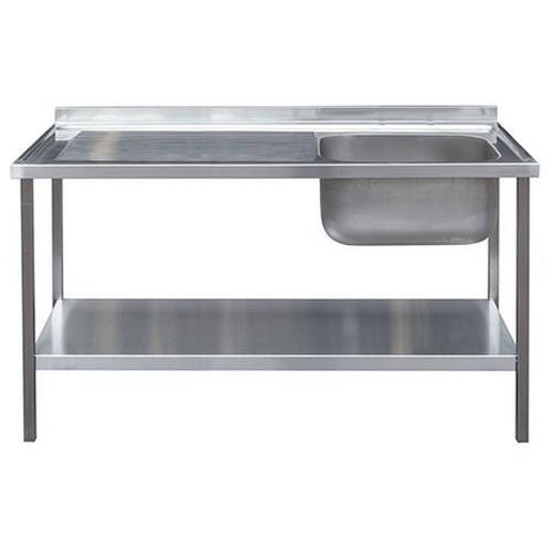 Additional image for Catering Sink With LH Drainer & Legs 1200mm (Stainless Steel).