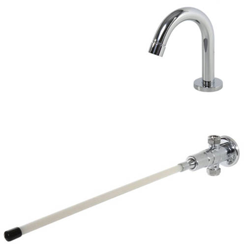 Additional image for Knee Operated Timed Flow Valve & Curved Spout (Exposed).